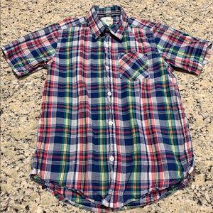 Children's Place Button-down Plaid Shirt Boys